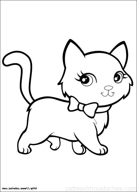 Coloriage De Chaton Mignon Photos De Nos Animaux